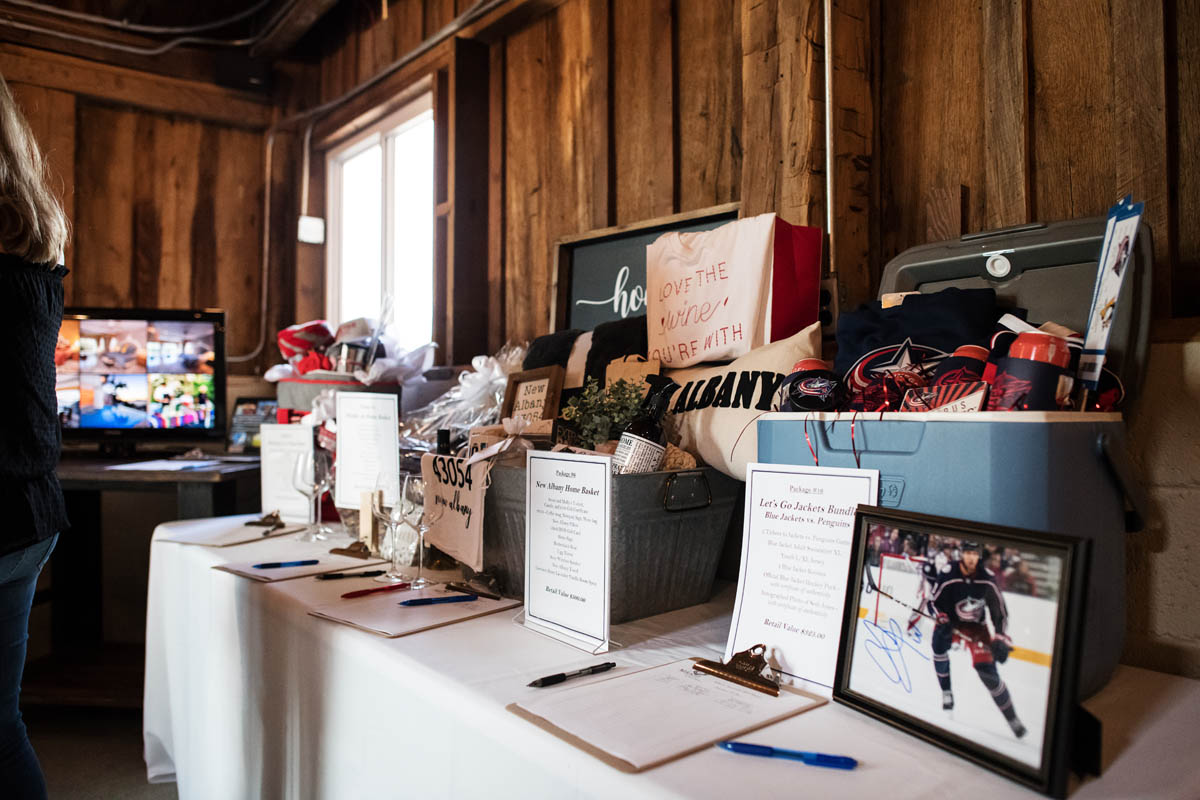 details of silent auction table