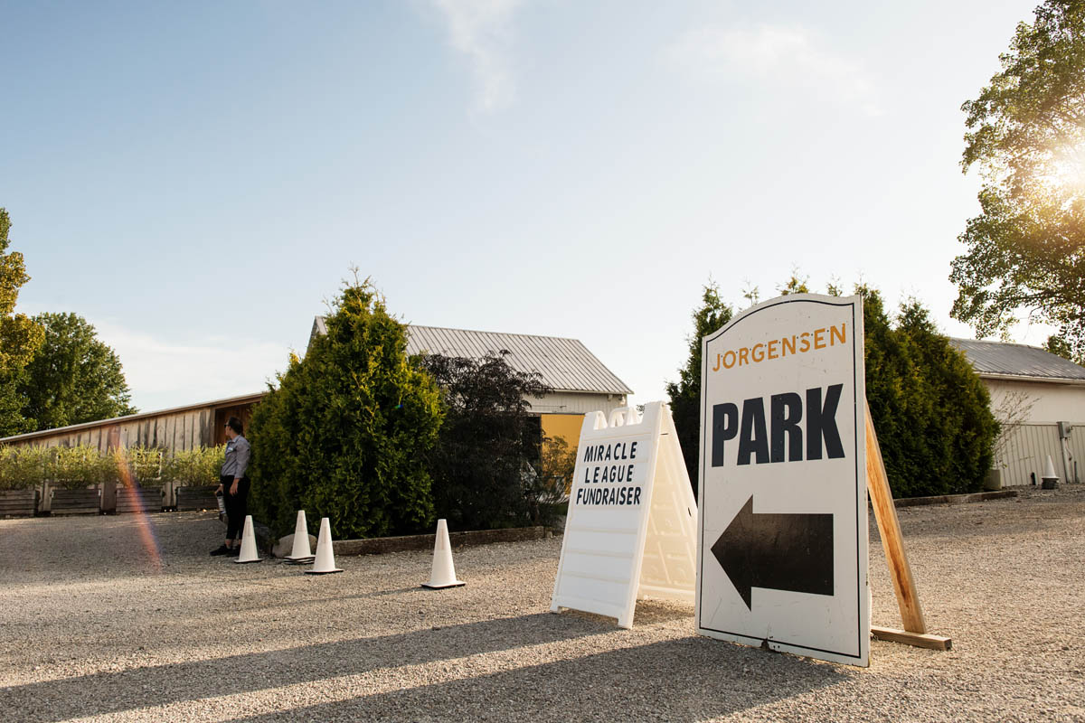 photo of event parking signs